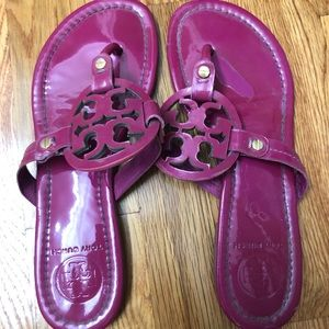 Pink Tory Burch flip flops